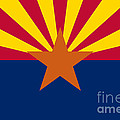 Arizona State Flag Authentic Color And Scale Version by Bruce Stanfield