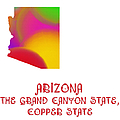 Arizona State Map Collection 2 by Andee Design