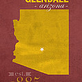 Arizona State University Sun Devils Glendale College Town State Map Poster Series No 012 by Design Turnpike