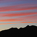 Arizona Sunset At Mt Ord by Tom Janca