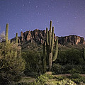 Arizona Superstition Mountains Night by Michael J Bauer
