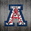 Arizona Wildcats College Sports Team Retro Vintage Recycled License Plate Art by Design Turnpike