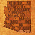 Arizona Word Art State Map On Canvas by Design Turnpike