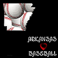 Arkansas Loves Baseball by Andee Design