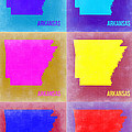 Arkansas Pop Art Map 2 by Naxart Studio