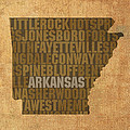 Arkansas Word Art State Map on Canvas by Design Turnpike