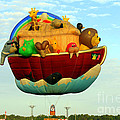 Arky Hot Air Balloon by Kathy  White