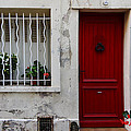 Arles House With Red Door Dsc01806  by Greg Kluempers