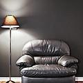 Armchair And Floor Lamp by Elena Elisseeva