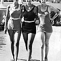 Army Bathing Suit Trio by Underwood Archives