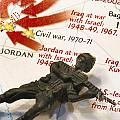 Army Man Lying On Middle East Conflicts Map by Amy Cicconi