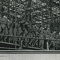 Army Test The Coronation Stands Outside The Abbey by Retro Images Archive
