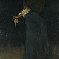 Arrangement In Black. The Lady In The Yellow Buskin by James Abbott McNeill Whistler