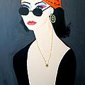 Art Deco  Hippy Girl by Nora Shepley