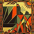 Art Deco In Orange by Emma Childs