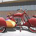 Art Deco Motorcycle With Sidecar by Stuart Swartz