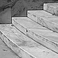 Art Deco Steps In Black And White by Rob Hans