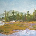 landscape print art for sale oil painting Serene by Diane Jorstad