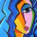 Art Girl blue