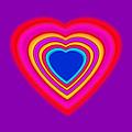 Art Heart Blue by Charles Stuart