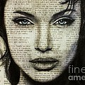 Art In The News 44- Angelina Jolie by Michael Cross