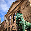 Art Institute Of Chicago Lion Statue by Paul Velgos