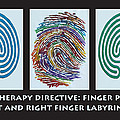 Art Therapy Directive Finger Labyrinth Fingerprint by Anne Cameron Cutri