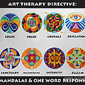 Art Therapy Directive Mandala by Anne Cameron Cutri