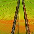 Arthur Ravenel Jr Bridge V by DigiArt Diaries by Vicky B Fuller