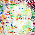 Arthur Rimbaud Watercolor Portrait by Fabrizio Cassetta