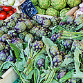 Artichokes At The Market by Allen Sheffield