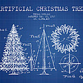 Artifical Christmas Tree Patent from 1927 - Blueprint by Aged Pixel