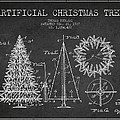 Artifical Christmas Tree Patent from 1927 - Charcoal by Aged Pixel