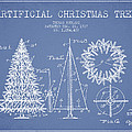 Artifical Christmas Tree Patent from 1927 - Light Blue by Aged Pixel
