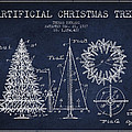 Artifical Christmas Tree Patent from 1927 - Navy Blue by Aged Pixel