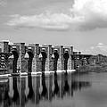 Artisan Lakes Bridge 1bw by Norman Johnson