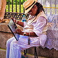 Artist At Work - Painting  by Kathleen K Parker