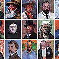 Artist Portraits Mosaic by Tom Roderick