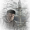 Artistic Digital Image Of An Old Sea Captain by Randall Nyhof