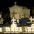 Louisiana Midnight Cemetery Lacombe by Luana K Perez