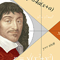 Artwork Of Rene Descartes With Equations And Lines by Sheila Terry/science Photo Library