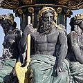 Artwork On The Public Fountains At Place De La Concorde In Paris France by Richard Rosenshein
