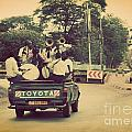 Arusha. Tanzania. Africa. A Group Of Young Men Celebrating Their Graduation by Michal Bednarek