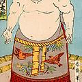 Asashio Toro A Japanese Sumo Wrestler by Japanese School