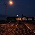 Asbury Park Boardwalk At Night by Bill Cannon