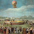 Ascent Of A Balloon In The Presence Of The Court Of Charles Iv by Antonio Carnicero