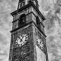 Ascona Clock Tower Bw by Timothy Hacker