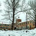 Asheville High School During Winter by Carol Montoya