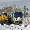Ashland Trains In The Snow by Cliff Middlebrook