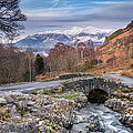 Ashness Bridge And Snow Capped Skiddaw by David Head